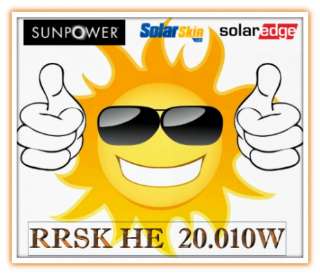 SunPower pv module, SolarEdge inverter,SolarSkin Nanotechnology